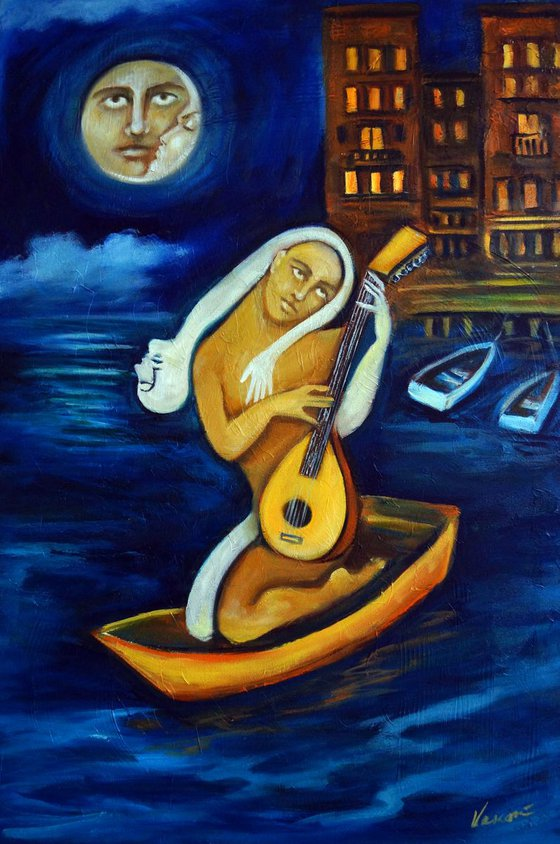 Moon, Lovers, Lute