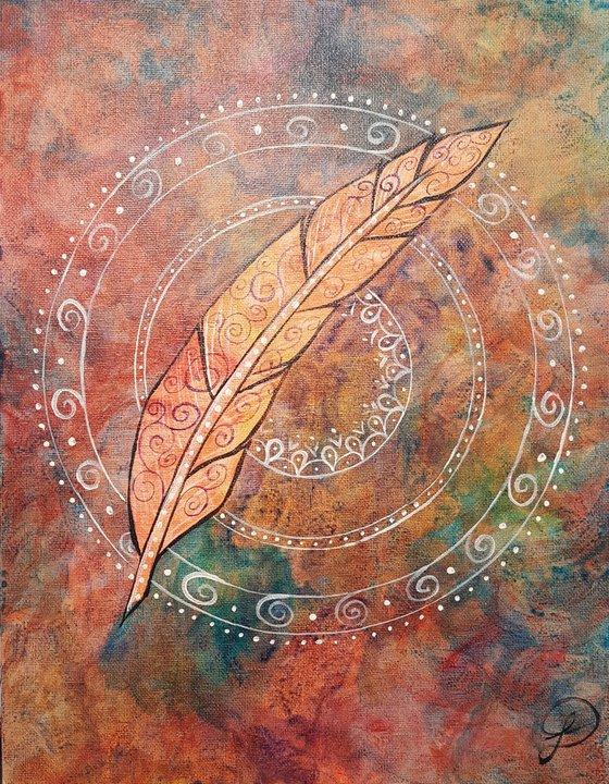 Feather Mandala 191001