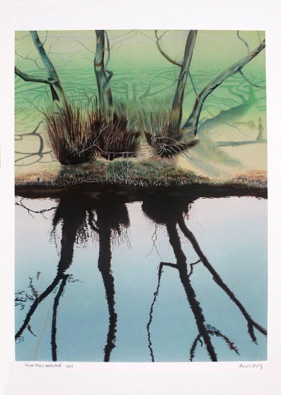 Three Trees Reflected