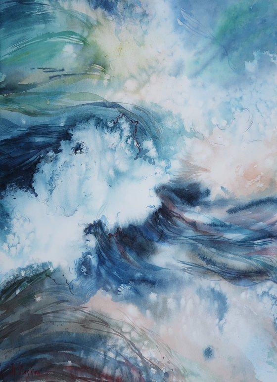 Sea breeze. 29*40 cm Abstract seascape