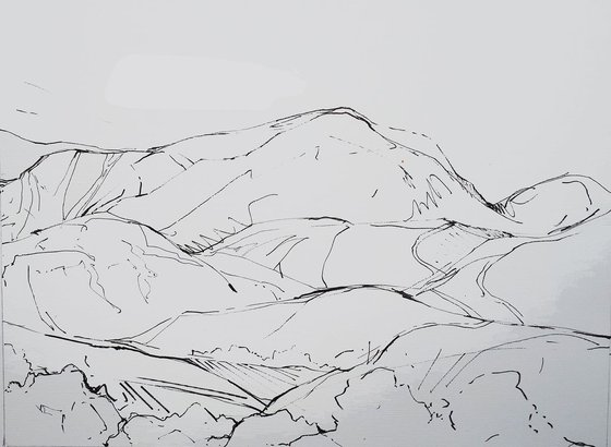 DIARY DRAWING  No. 4  Buttermere 04 09 18
