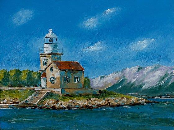 Light house St. Petar in Croatia. Adriatic sea.