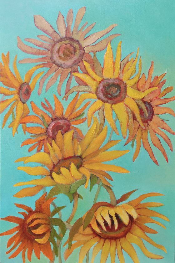 End of Summer ( Sunflowers).