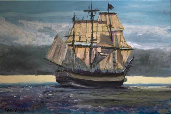 We Set Sail - Boat Painting
