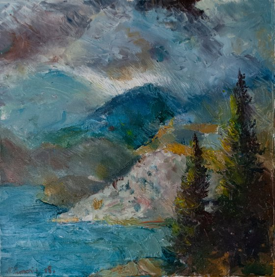Montenegrian Coastline in a Storm