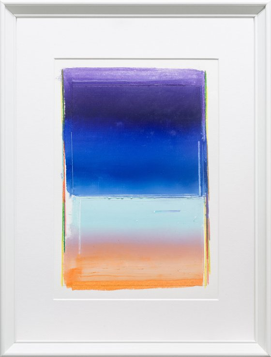 Modern Abstract Oil Painting, BREATHE- A#09, 30x40cm, Framed and Ready to Hang