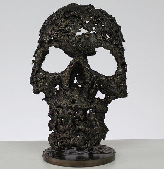 skull - sculpture metal vanity skull steel lace - Buil