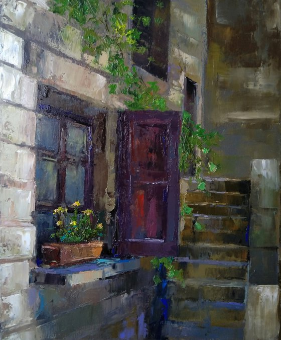 Morning(60x50cm, oil painting, impressionistic)