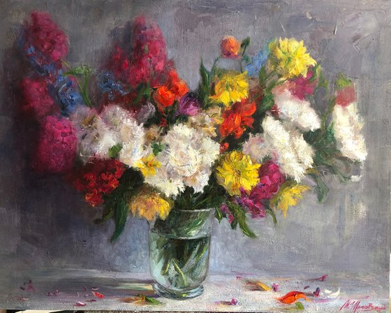 """""""Summer bouquet in a glass vase"""""""