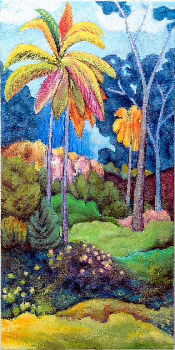 Landscape With Three Palms