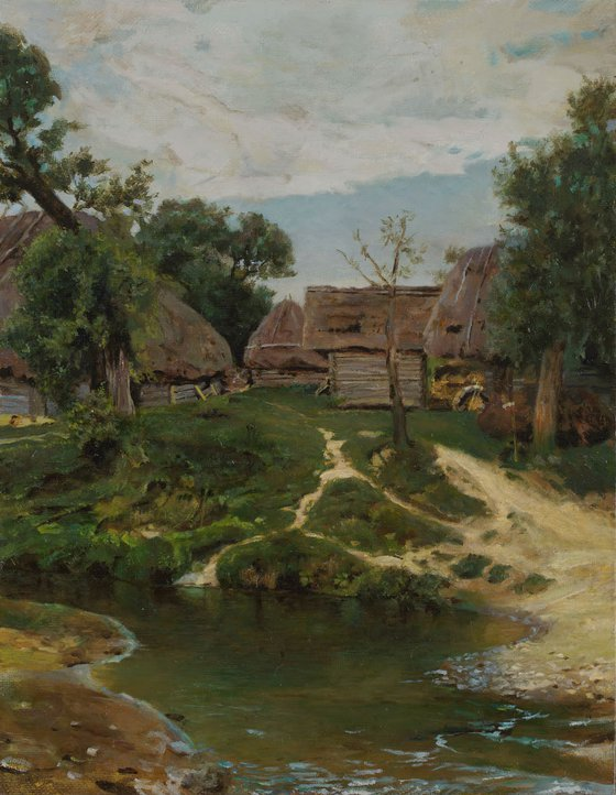 V. Polenov, the village Turgenevo, copy.
