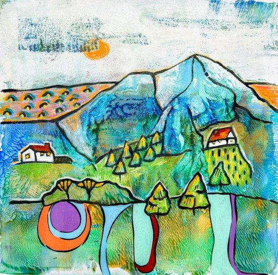 Seasonal Landscape on paper 3