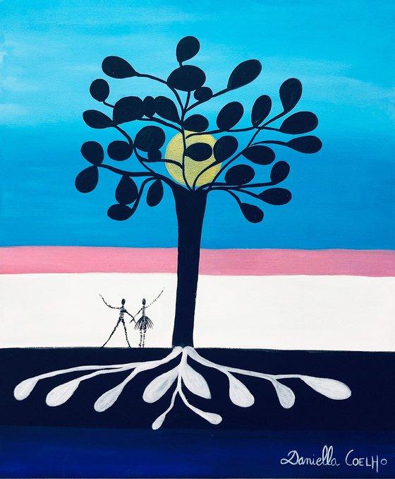 arbre de vie et acrobates