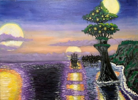 Moon light in Never Neverland