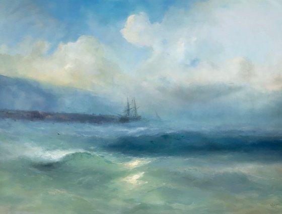 Ocean Breeze, Original oil Painting, Handmade artwork, Signed, One of a Kind