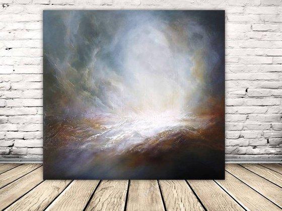 'GUIDING LIGHT' (Large seascape/landscape original oil painting)