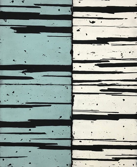 Untitled (light blue and white), 2019