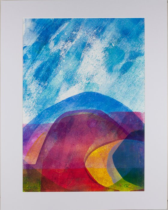 """One Fine Day - Mounted and Backed 50cm (20"""") x 40 cm (16"""") Original Signed Monotype"""