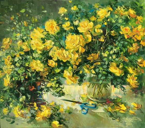 Yellow Tulips (80x70 cm)