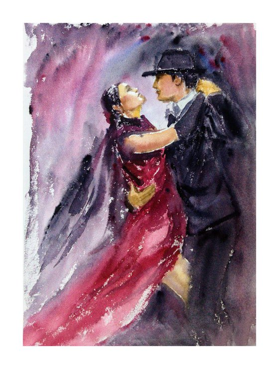 "Argentine Tango Dancers Tango Dance - It takes two to tango! 10.25""x13.75"""