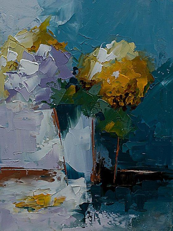 Modern still life painting. Gift idea