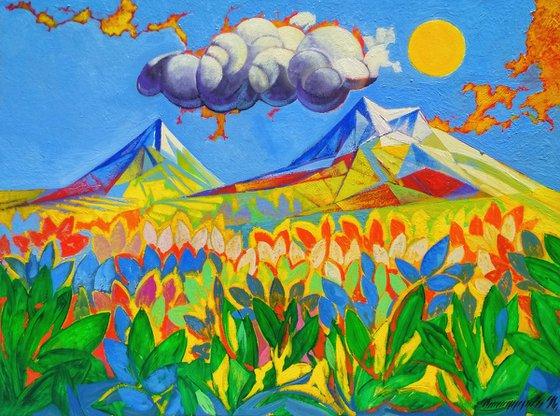 Ararat (60x80cm, oil painting, ready to hang)