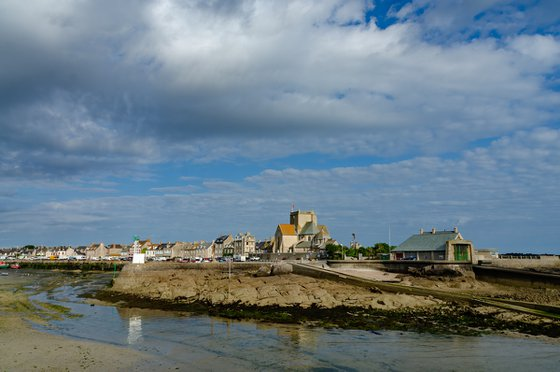 Barfleur, the fishing port at low tide