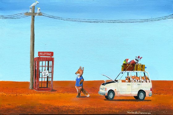The Out of Service Phone Box