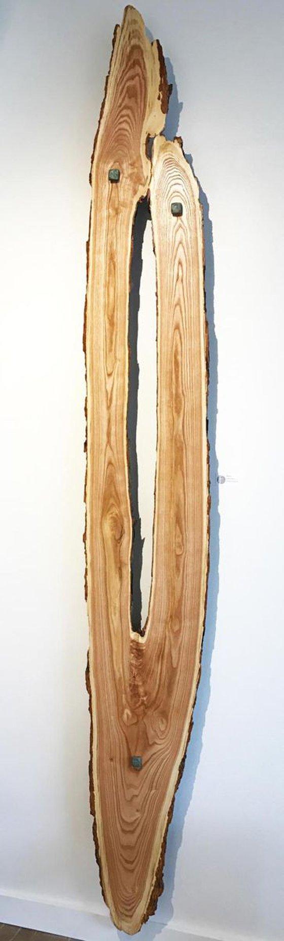 'Reaching' - Original Wood Art Contemporary Lodge Decor Wooden Wall Sculpture Modern Nature Art