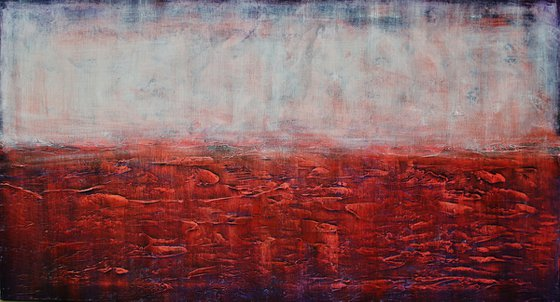 Abstract,christmas sale,white, red, brown, blue 1200 USD now 445 USD.