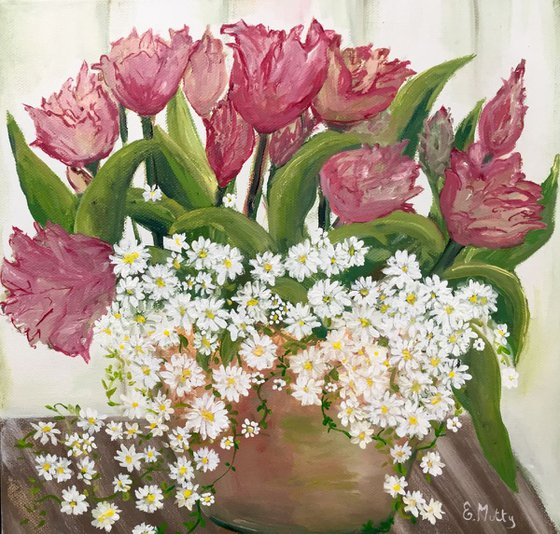 Tulips and daises
