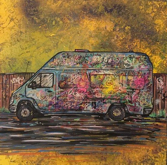 Graffitied Van 1
