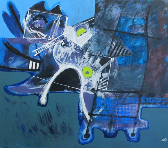 Cat Playing (80x70 cm)