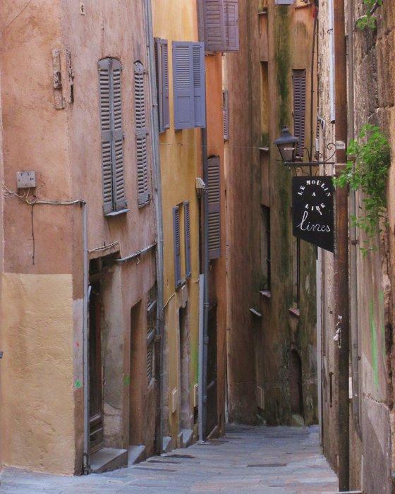 Grasse, Old Town, french village street scene