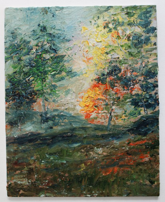 Best Evening - Sunset Landscape Oil Impressionistic Painting