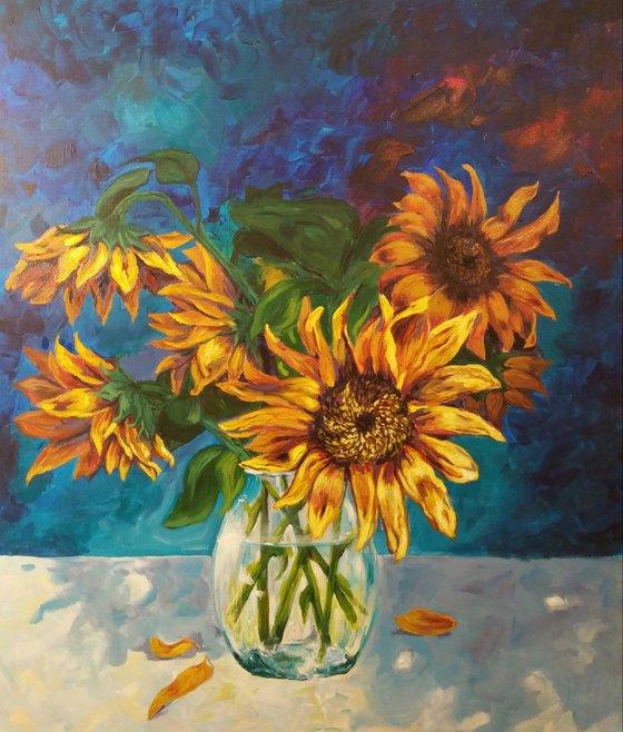 """""""Sunflowers"""", acrylic on canvas, 60x70cm"""