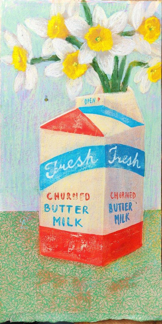 Churned Butter Milk