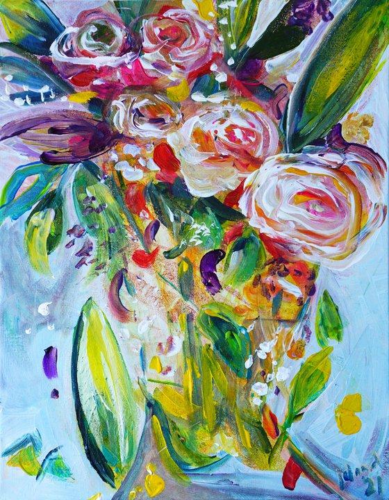 Flowery Joy 21 11x14in (~28x35cm)