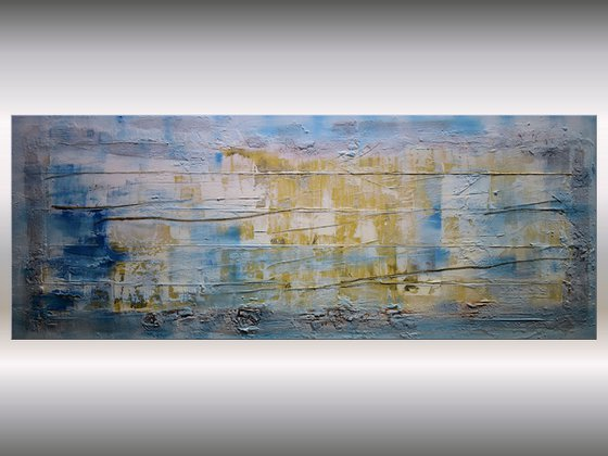 Golden Lines  - Abstract Art - Acrylic Painting - Canvas Art -  Abstract Painting - Industrial Art