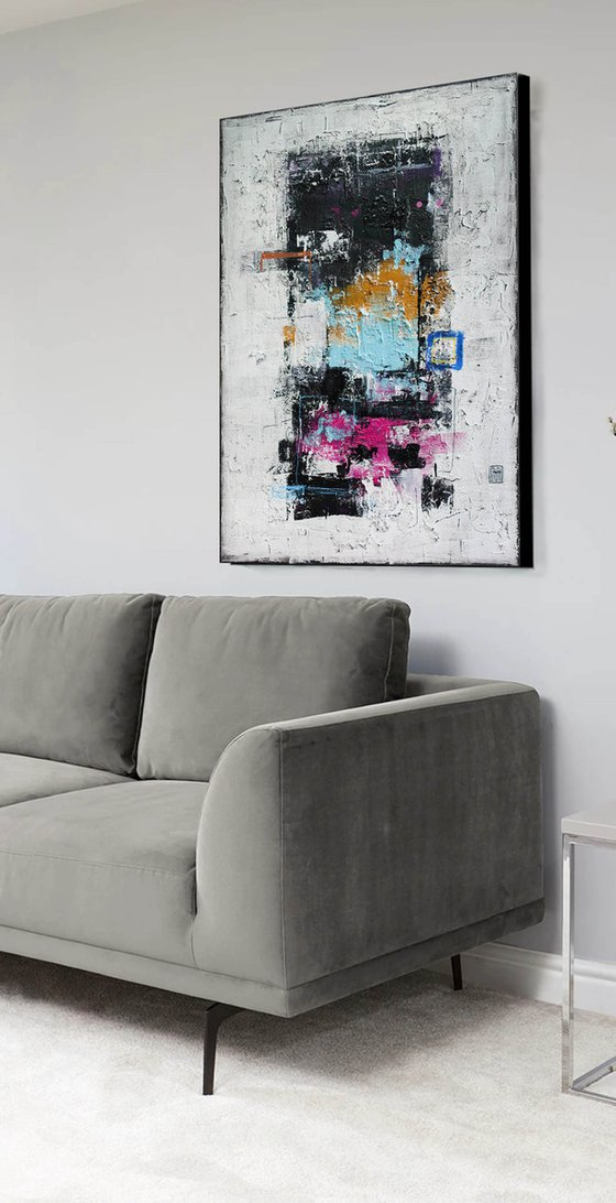 A166 (Contemporary abstract Spiritual Architecture Landscape Acrylic on canvas Large wall art Painting Series)