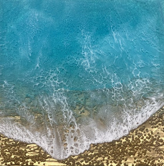 Teal Waves #35 Seascape Painting
