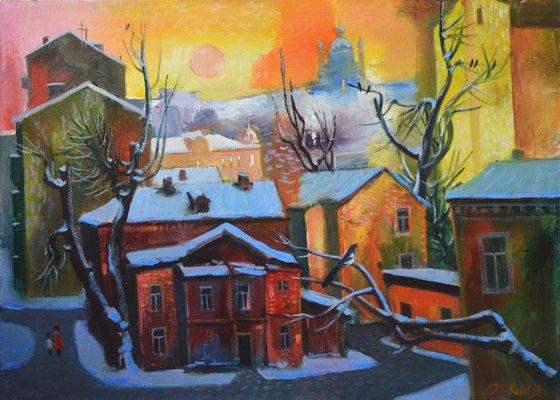 Winter in Kiev. Podil
