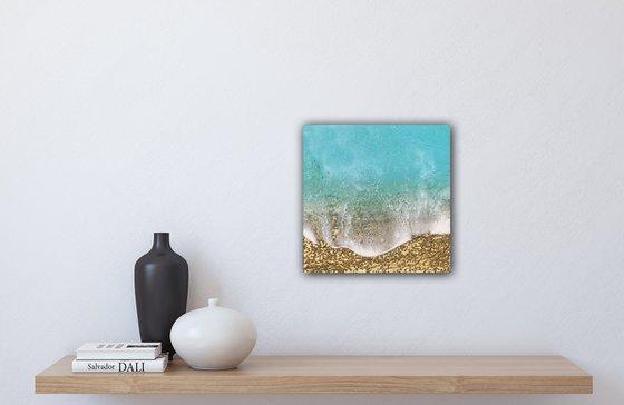 Teal Waves #40 Seascape Ocean Waves Painting