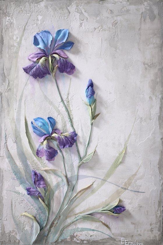DELIGHT * Sculpture painting * Reinforced acryl * Palette knife * flower