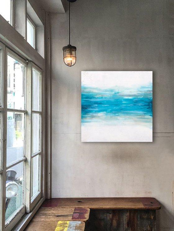 raw blue speed  (90 x 90 cm) Dee Brown Artworks