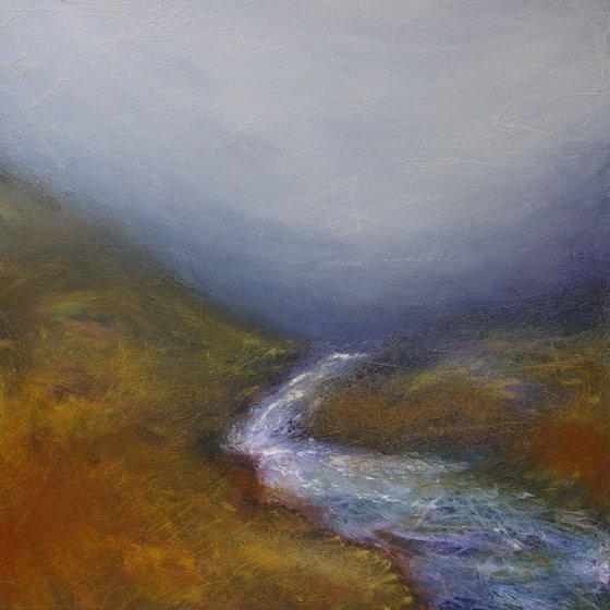 Autumn Falls, Scottish highland moorland waterfall