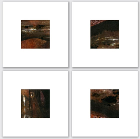Abstract Composition Collection 14 - 4 Abstract Paintings by Kathy Morton Stanion