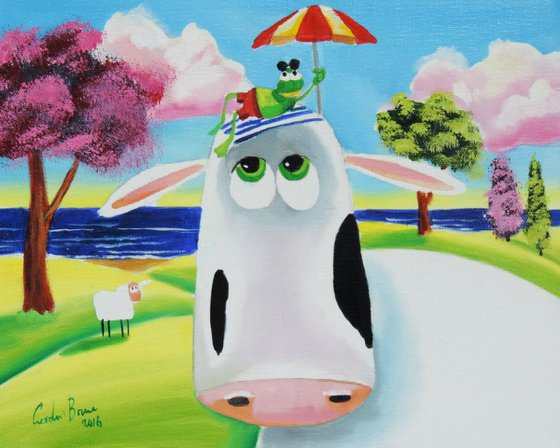 Cow and frog