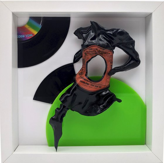"""Vinyl Music Record Sculpture - """"Song for You and Me"""""""