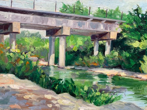 Train Bridge Over Brushy Creek